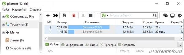 Utorrent скачать торрент бесплатно на русском языке.